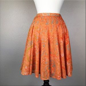 Tommy Bahama Orange Paisley Full Skirt